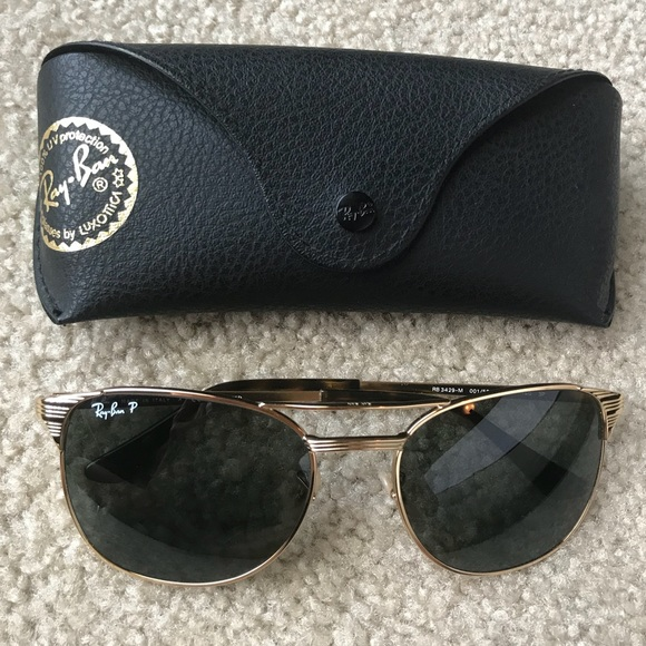 14b78cb151 Ray-Ban Signet Gold Green Polarized Sunglasses. M 5b98237e9e6b5b47d108a5cf